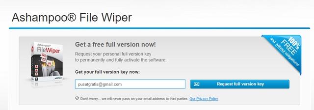 Dapatkan Lisensi Ashampoo File Wiper Secara Gratis dan Legal