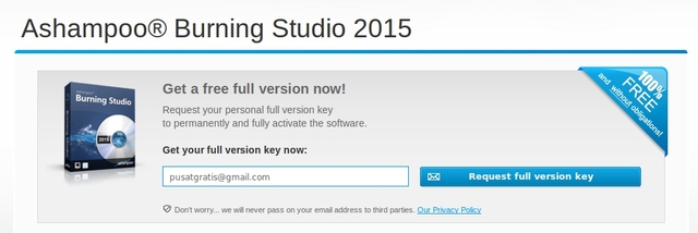 Dapatkan Ashampoo Burning Studio 2015 Senilai 440rb (Gratis!)