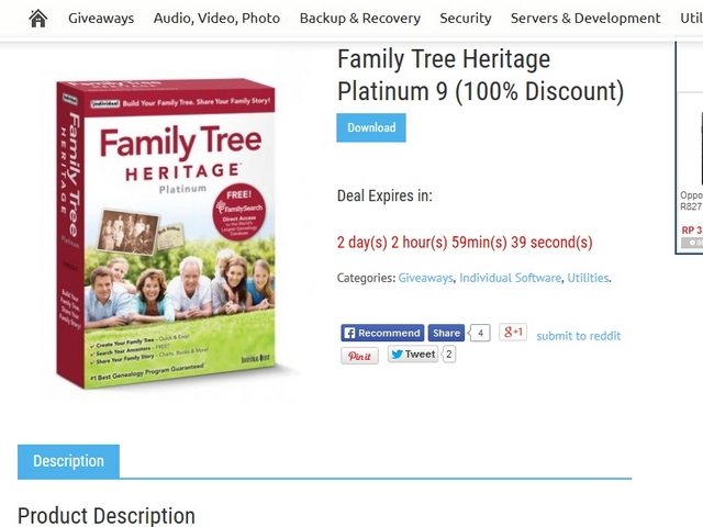 Download Gratis Family Tree Heritage Platinum 9 Seharga $39,99