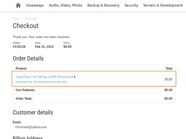 Dapatkan Giveaway SuperEasy Live Defrag Seharga $19.95, Software Defrag Otomatis