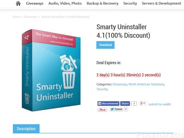 Dapatkan Gratis Smarty Uninstaller 4.1 Seharga $24.99