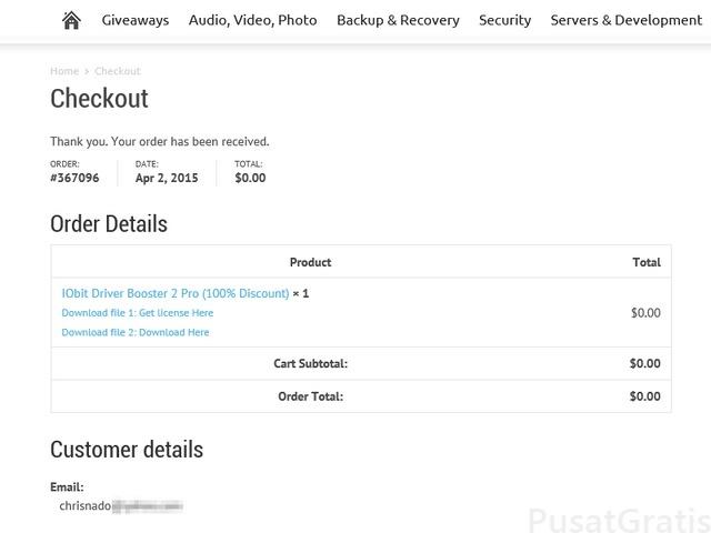 Dapatkan Gratis IObit Driver Booster 2 Pro Seharga $74.85