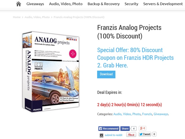 Download Gratis Franzis Analog Projects Seharga $75