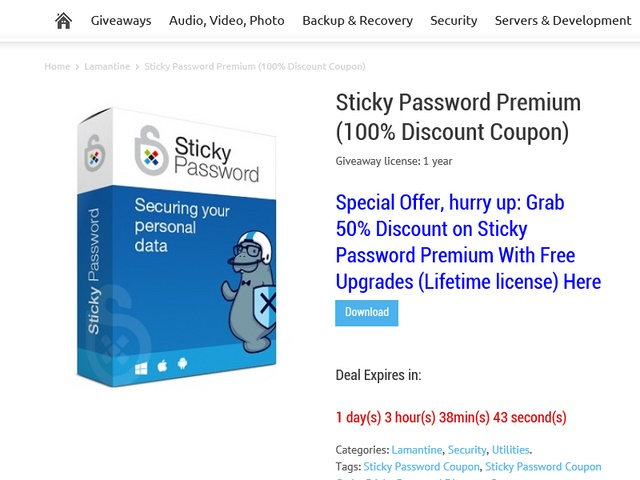 Download Gratis Sticky Password Premium Seharga $19.99