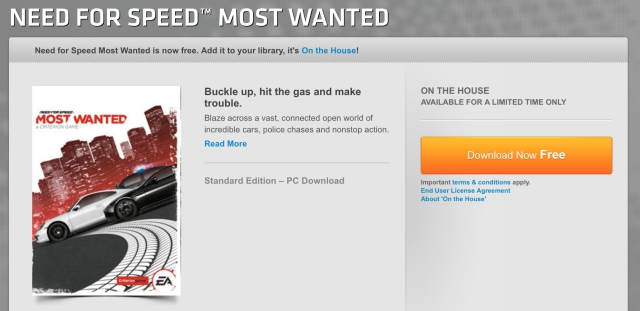 "Download Game ""Need for Speed: Most Wanted"" Gratis! (Giveaway)"